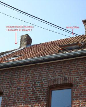 Delhez Systèmes - Fenêtres de toits - Velux encastré