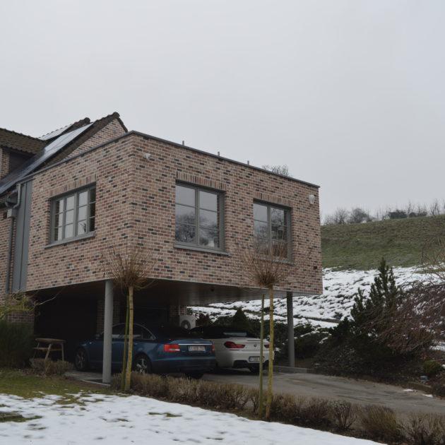 Ossature bois transformation annexe li ge maison bois for Annexe en bois pour maison